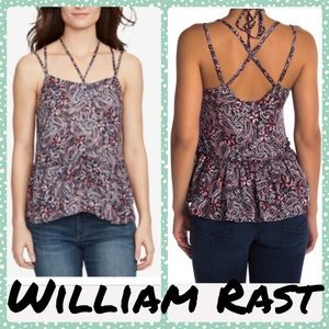 William Rast Thea Strappy Floral halter Top